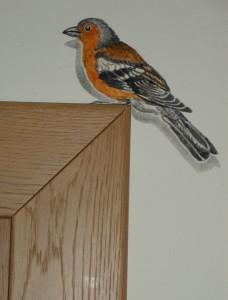 Wandbild Detail Vogel