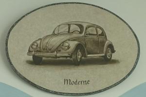 gemalte Bildtafel VW Käfer