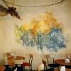 Wandmalerei Nürnberg, moderne Wandmalerei in Gaststätte, bemaltes Café